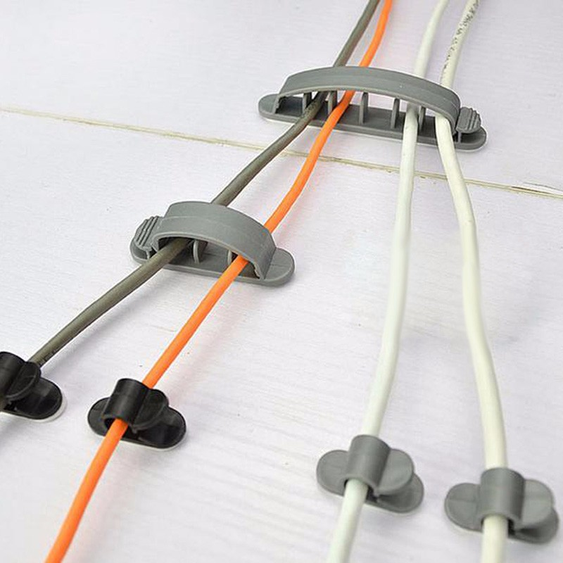 10 шт. универсальный держатель кабеля зажим Пряжка шнур пластиковые Галстуки провода Органайзер крепеж кабель управление аксессуары для проводки