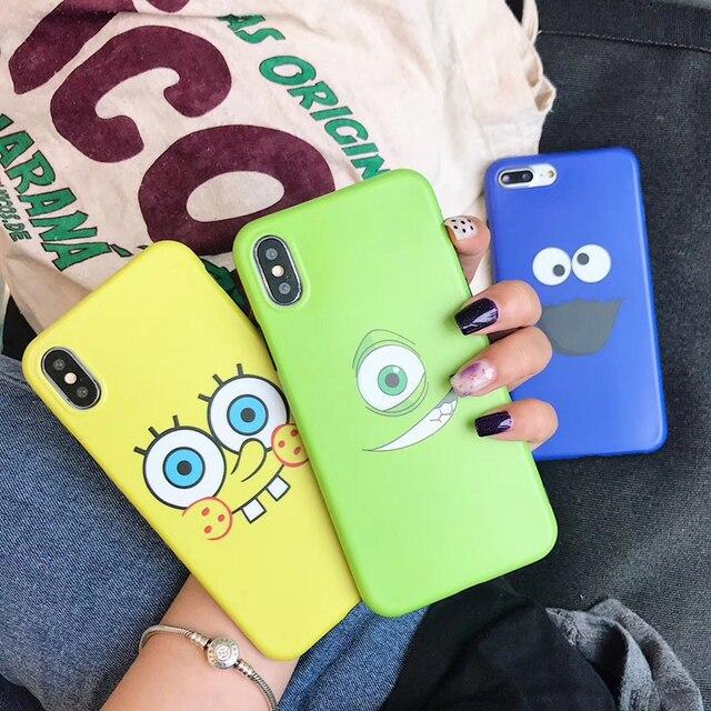 Japan And Korean Cute Spongebob Big Eyes Sesame Street Fashion Color