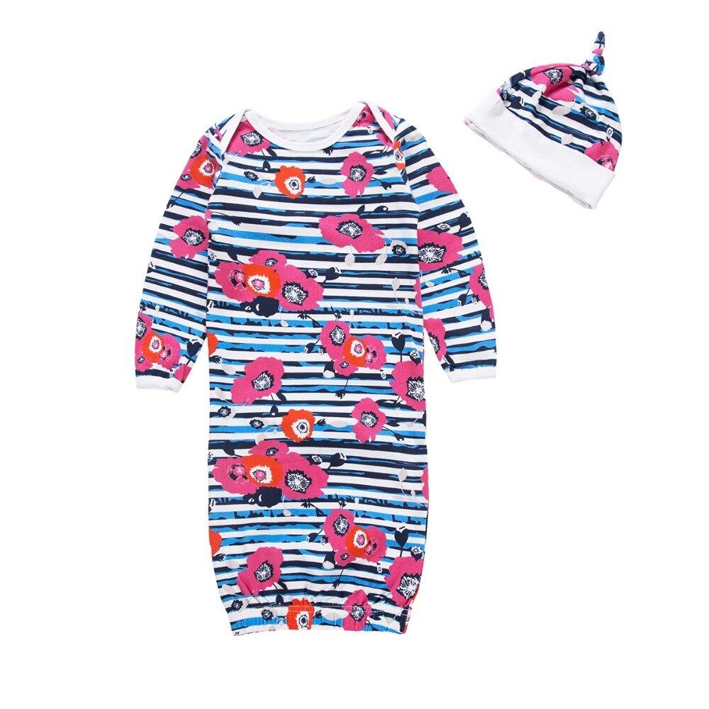 Bloem Dwarsliggers Baby Jassen Pasgeboren Meisje Pyjama Kinderen Slaapzak Pyjama Slapen Pak Voor Baby Pasgeboren Nachtkleding Gewaden