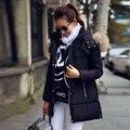 2016 Новая Мода Зимняя Куртка Женщины Большой Настоящее Енота Меховым Воротником Куртки С Капюшоном Толстые Пальто Для Женщин Пиджаки Куртка