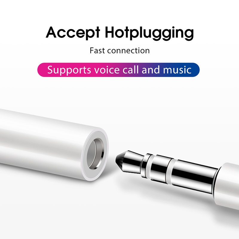 Image 3 - Lamorniea For iPhone X 8 7 Plus Headphone Audio Adapter For lightning to 3.5mm Aux Jack Earphone Bluetooth Converter For iOS 12-in Phone Adapters & Converters from Cellphones & Telecommunications