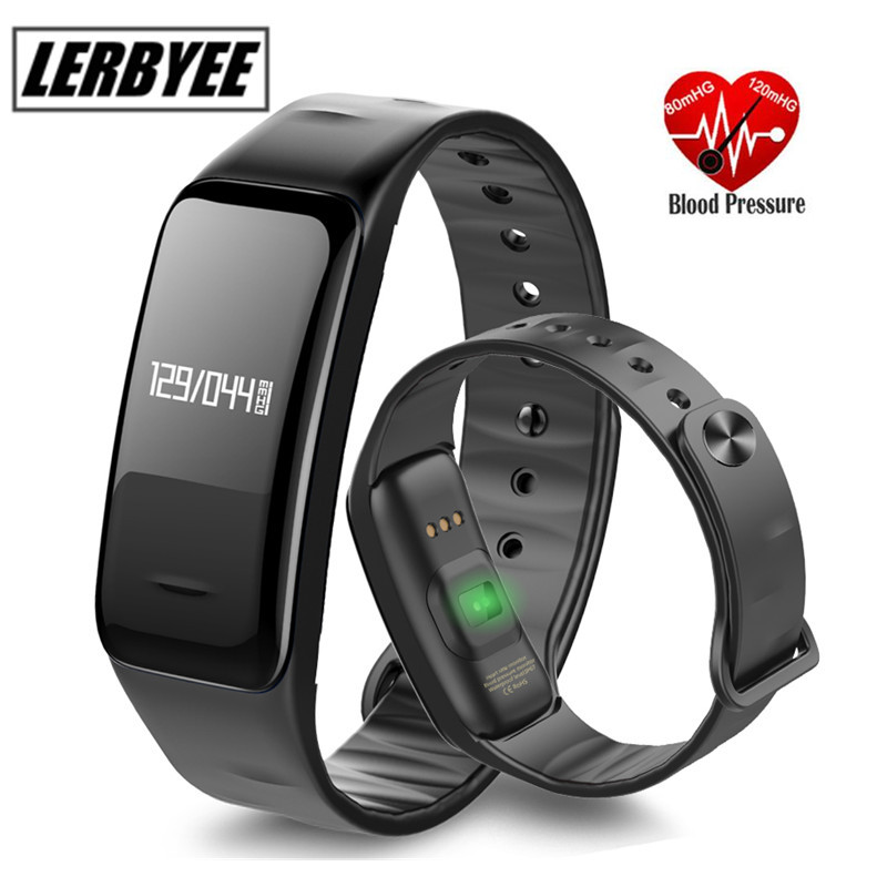 Smart Bracelet Watch LERBYEE C1 Heart Rate Monitor Waterproof Sport Fitness Tracker Smartbrand Wristband For Android