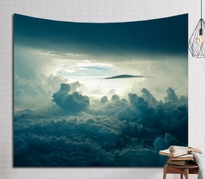 Image 4 - CAMMITEVER Psychedelic Beautiful Stars Starry Sky Fabric Wall Hanging Tapestry Decor Polyester Curtains Plus Long Table Cover