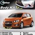 Bumper Lip Lábios Para Chevrolet do Sonic 2011 ~ 2015/Top Gear loja de Spoiler Para Carro Tuning/TOPGEAR Body Kit + tira
