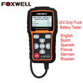 Foxwell BT705 12V Car Battery Tester 24V Truck Digital Analyzer 2000CCA 220AH Russian Multi Languages BAD Cell Test Car Tools