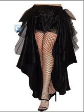 plus size petticoat  Gothic Victorian Steampunk Burlesque Taffeta Lace Bustle Prom Wedding Skirt S-6XL