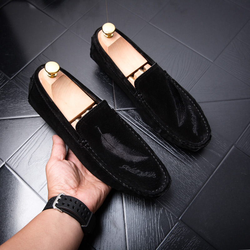 Mocassin homme Loafers Shoes for Men Casual Shoes Fashion   Leather   Car Driving Shoes Mens Moccasins Man Loafer Footweat Black