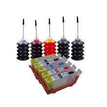 CANON MG5240 MG5140 MG5340 IP4840 IP4940 MX884 IX6540 MX894 MX714 yazıcı PGI 425 CLI 426 doldurulabilir mürekkep çipli kartuş