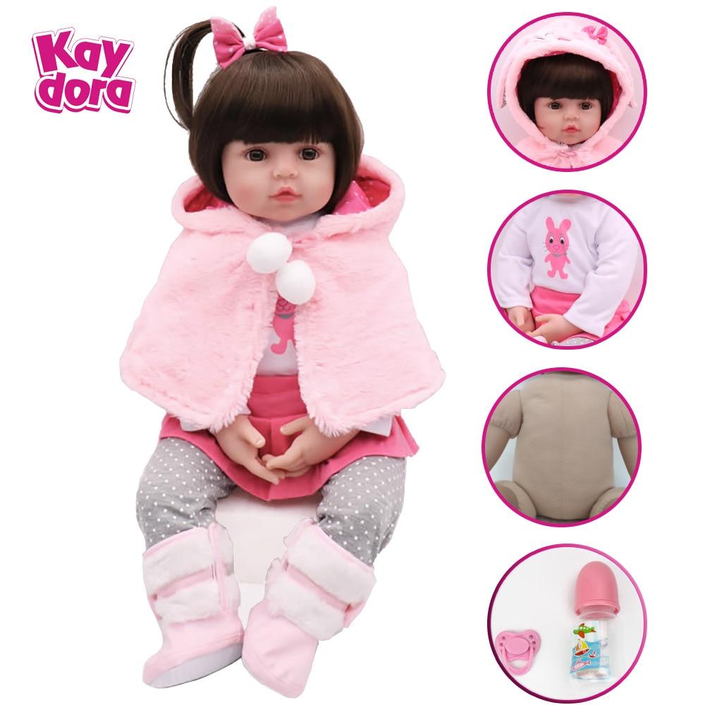 18 pouces 45 cm Silicone Reborn bébé poupées bébé vivant réaliste Boneca Bebe lol réaliste réel Menina fille anniversaire jouets pour enfants