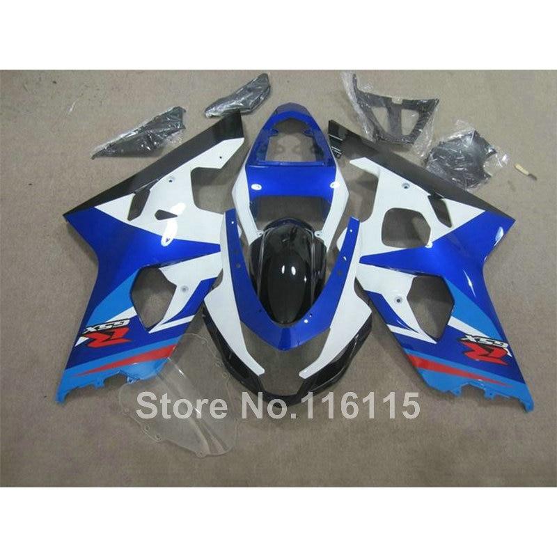 Top quality fairing kit for SUZUKI GSX-R600 750 K4 2004 2005 fairings GSXR600 GSXR750 04 05 blue white black motorcycle  Q757