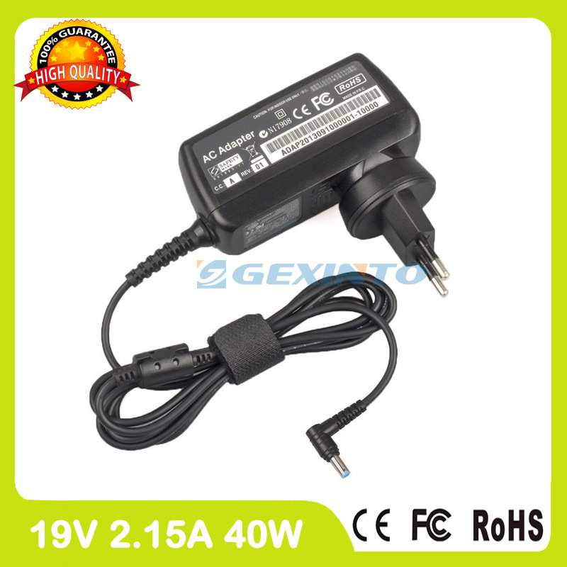 19V 2.15A laptop ac adapter charger ADP-40TH A for Acer Aspire R3-131T R3-431T R3-471T R3-471TG V3-111P V3-112P V5 Touch V5-121 slim laptop charger 19 5v 7 7a 19v 7 9a ac power adapter for gigabyte aero 14 15 15w v8 15w bk4 p34k v3 v5 p34w v3 v4 v5 p35g v2