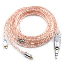 Fácil 8 Núcleo de Actualización Auriculares Cable de Cobre Y Plata Chapada LZ A4 Magaosi K3 UE900 Auricular Audio Cable MMCX líneas Acondicionadas