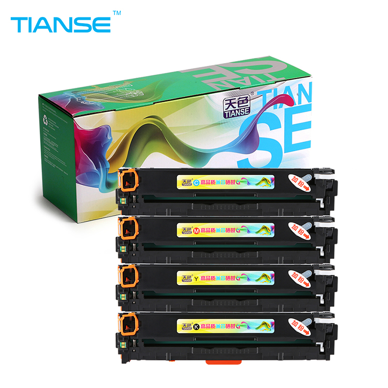 TIANSE Compatible for HP125A CB540A CB541A CB542A 125A toner cartridge for HP LaserJet CM1300 CM1312 CP1215 CP1515n CP1518ni