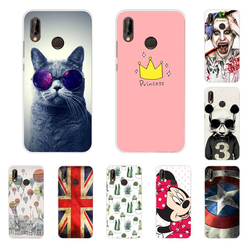 Galleria fotografica <font><b>huawei</b></font> p20 lite Case,Silicon Fashion Cartoon Painting Soft TPU Back Cover for <font><b>huawei</b></font> p20 lite protect Phone bags