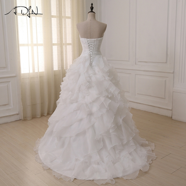 Cheap Wedding Dress Robe De Mariee White/ Ivory Corset Plus Size Wedding Dresses Vestido De Novia In Stock