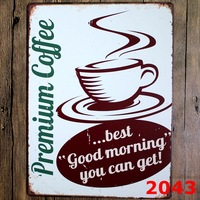 Premium coffee New large Tin plate signs movie poster Art Cafe Bar Vintage Metal Painting wall stickers home decor 30X40 CM