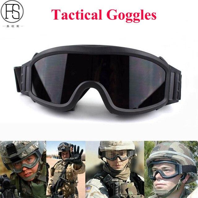 4ef023e0f9741 Militar do exército Tactical Goggles Oculos Óculos De Airsoft Wargame  Paintball Tiro Óculos de proteção Da