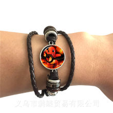 Beautiful Round Glass Cabochon Pokemon Go Pokeball Bracelet For Men Women Cute Classic Jewelry Black/Brown 2 Color Leather Bangl(China)