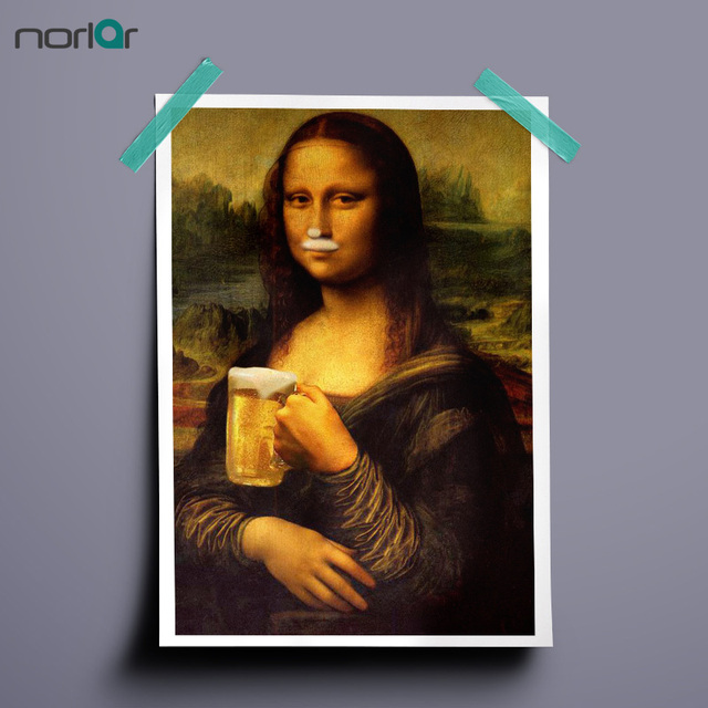Hd printed art canvas print poster monalisa drinking beer paintings hd printed art canvas print poster monalisa drinking beer paintings wall decor canvas painting wall picture altavistaventures Gallery
