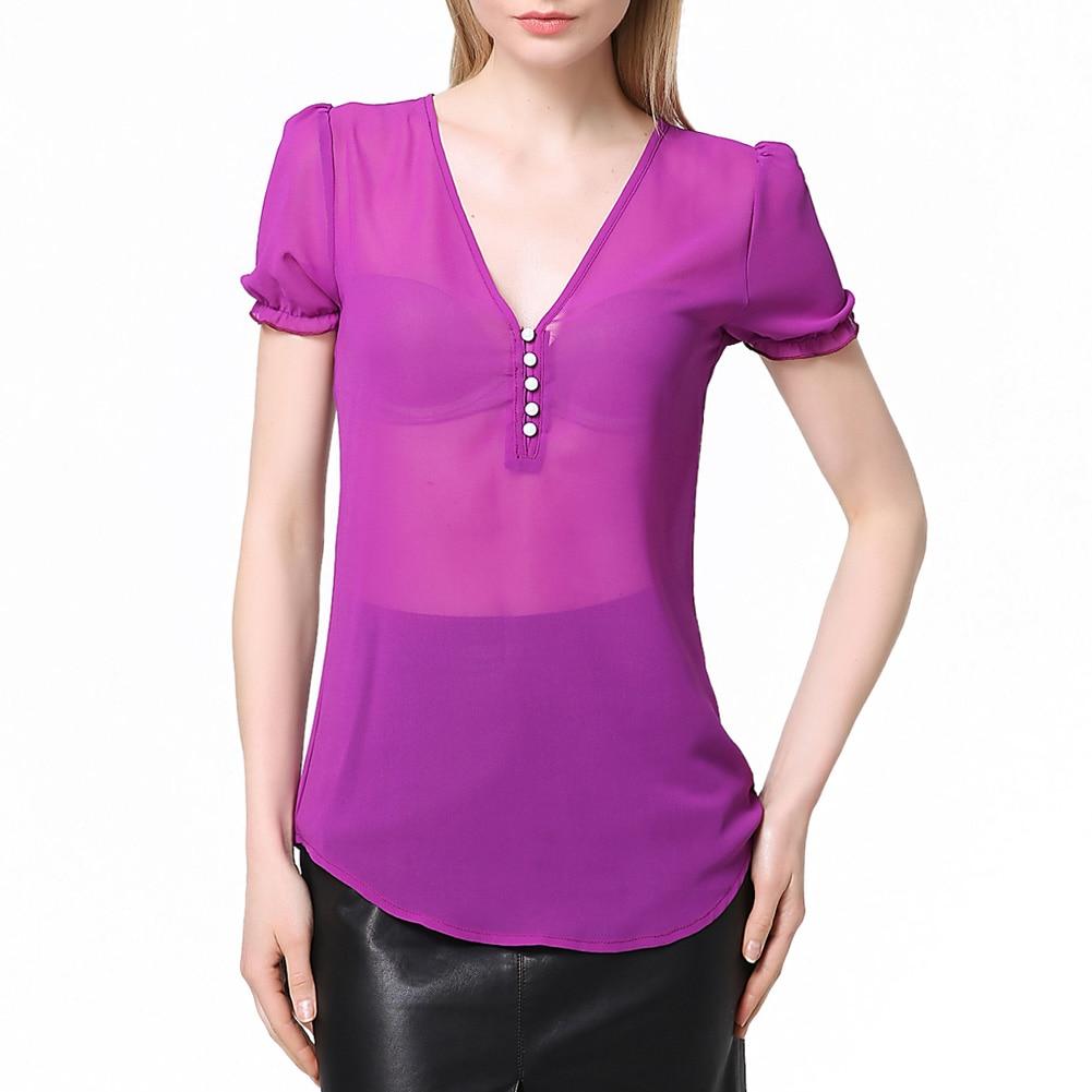 Online Get Cheap Purple Chiffon Tops -Aliexpress.com   Alibaba Group