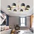 3/6/8 головки  скандинавские минималистичные  из цельного дерева  для спальни  светодиодная лампа  креативные макароны  подвесной светильник  ...