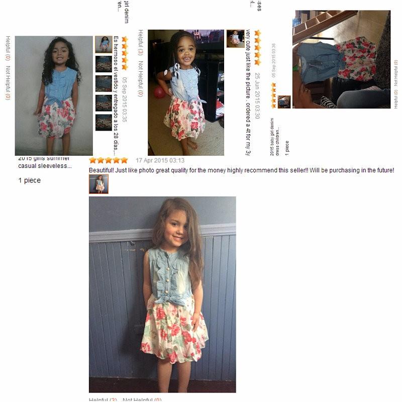 HTB19UUdJpXXXXXdXXXXq6xXFXXXd - Belababy Baby Girl Dress 2017 Summer Children Sleeveless Denim Floral Dresses With Button Kids Princess Summer Dresses For Girls