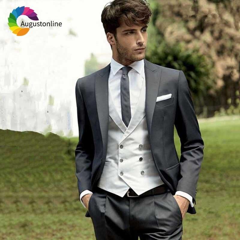 Italian Men Suit Vintage wedding suits for men Classic Groom Tuxedo (4)