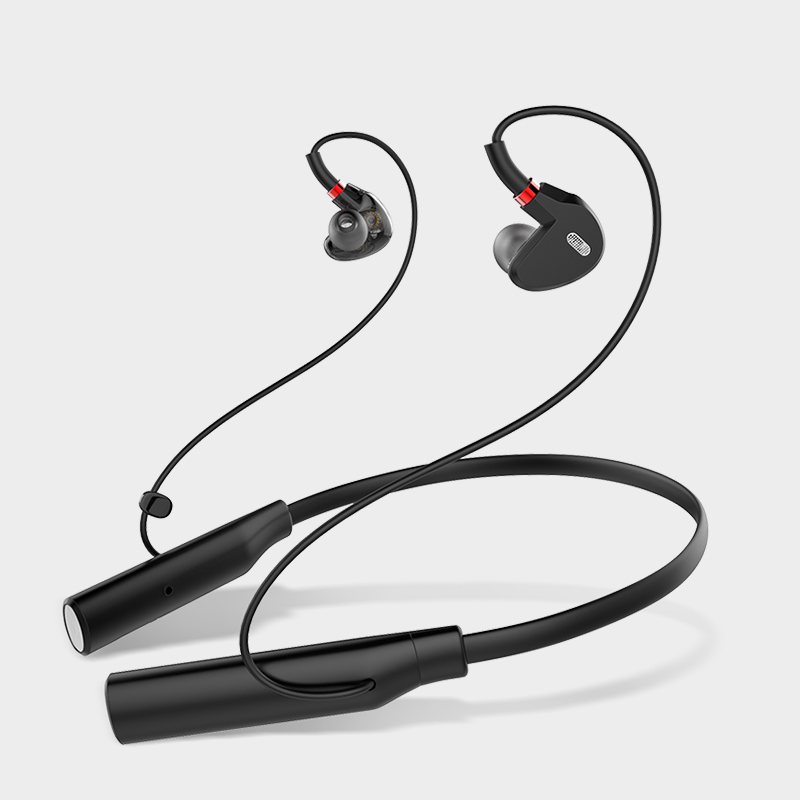 Bluetooth Headphones Double Dynamic circle HiFi Stereo Wireless Earphones Noise Cancelling Sport Sweatproof Wireless Earbuds in Bluetooth Earphones Headphones from Consumer Electronics