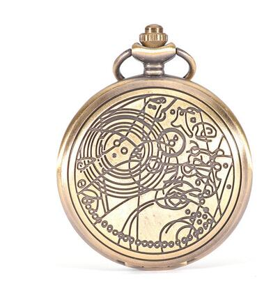 Fashion Quartz Man Astronomy Doctor Who Pocket Watch Classic Vintage Antique Men Watches Ancient Bronze Classic Watches PJH524