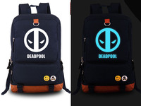 New Marvel Deadpool Backpack Fashion Canvas Student Luminous Schoolbag Unisex Travel Bags