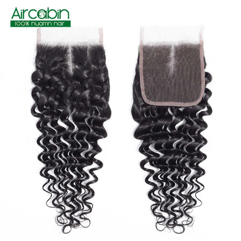 Бразильские глубокие синтетические волосы волнистые 130% плотность 4x4 100% человеческие волосы глубокая волна Кружева Закрытие свободный Средний три части не Реми кружева клосур