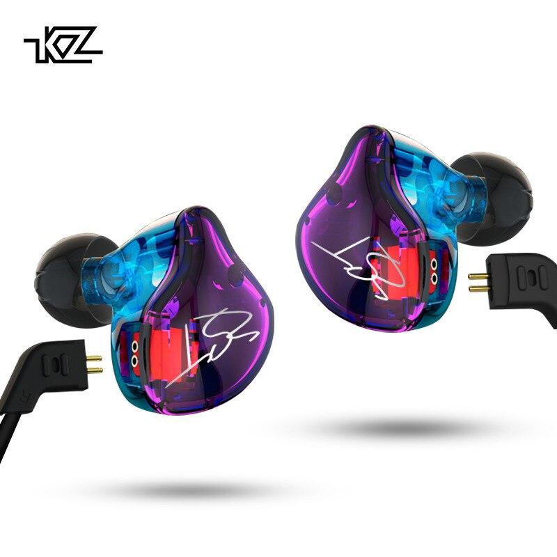 KZ ZST Pro Armatura Dual Driver Auricolare Cavo Staccabile In Ear Audio Monitor isolamento del Rumore HiFi Musica Auricolari Sportivi