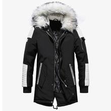 Брендовая Новая зимняя мужская куртка, утепленные теплые парки, Повседневная Длинная Верхняя одежда, куртки и пальто с капюшоном для мужчин, мужская куртка, оптовая продажа