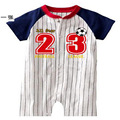 Ternos do Corpo Do bebê one-piece abrir ponto boxer rompers roupas de Bebê de Beisebol Rookies 1 pçs/lote Varejo TOP QUALITY
