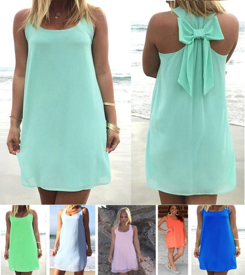 Summer dress 2018 summer style women casual sundress plus size women clothing beach dress chiffon women dress 1