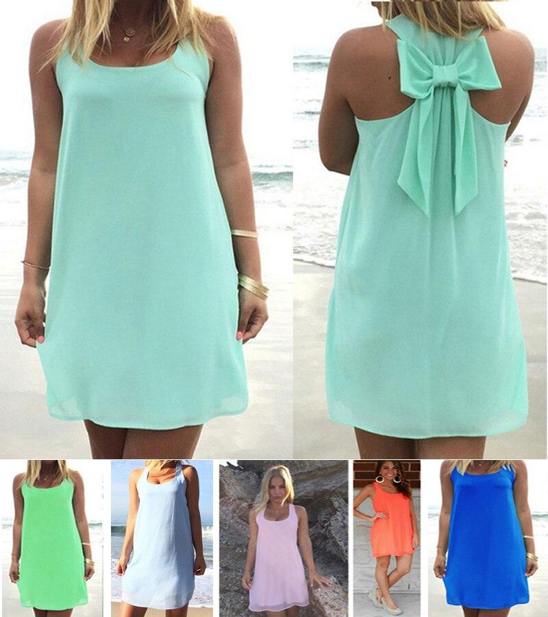 Летнее платье 2016 г. Летние Стильные женские повседневные сарафан Большие размеры женская одежда пляжное платье шифон