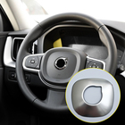 For VOLVO XC60 2018/ XC90 2015-2018 Stainless Steel Matte Interior Steering Wheel Ring Cover Decoration Trim 1pcs