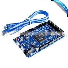 Из-за R3 доска AT91SAM3X8E SAM3X8E 32-бит ARM Cortex-M3 Управление модуль + 1 шт. USB кабель для Arduino из-за R3