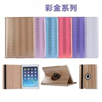 360 Degree Rotating Colorfly Print PU Leather Case Stand Flip Cover For Apple Ipad 2 3