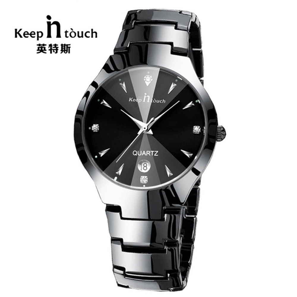 KEEP IN TOUCH Simple Men Watch Stainless Alloy Quartz Mens Watch Luminous Waterproof men clock relogio masculino Dropshipping!KEEP IN TOUCH Simple Men Watch Stainless Alloy Quartz Mens Watch Luminous Waterproof men clock relogio masculino Dropshipping!