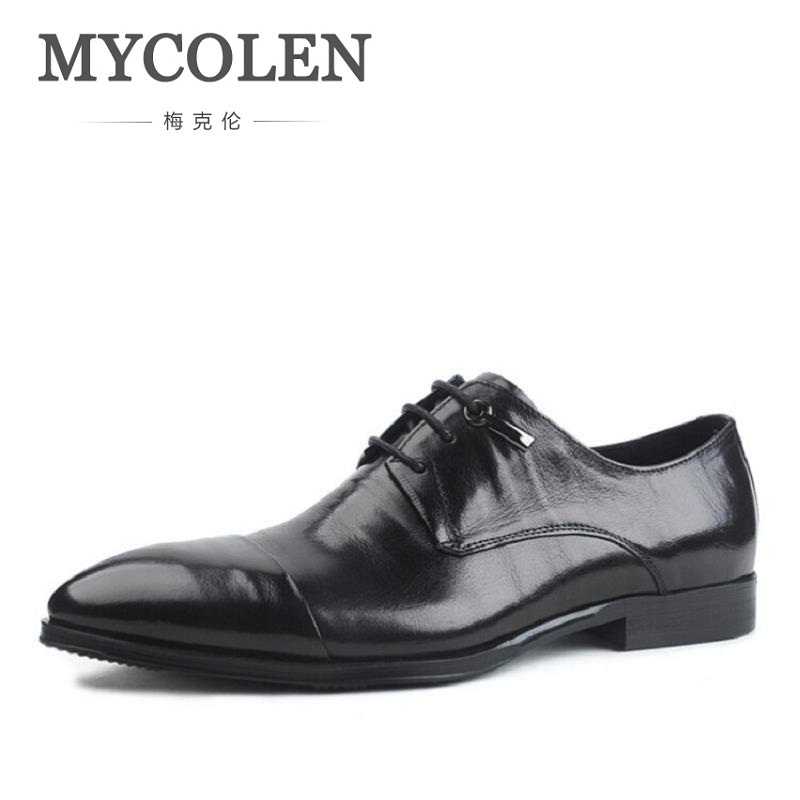 MYCOLEN Mens Leather Lace-Up Dress Shoes Men Business Office Oxfords Man Casual Wedding Flats Shoes Adult Sapatos MasculinosMYCOLEN Mens Leather Lace-Up Dress Shoes Men Business Office Oxfords Man Casual Wedding Flats Shoes Adult Sapatos Masculinos