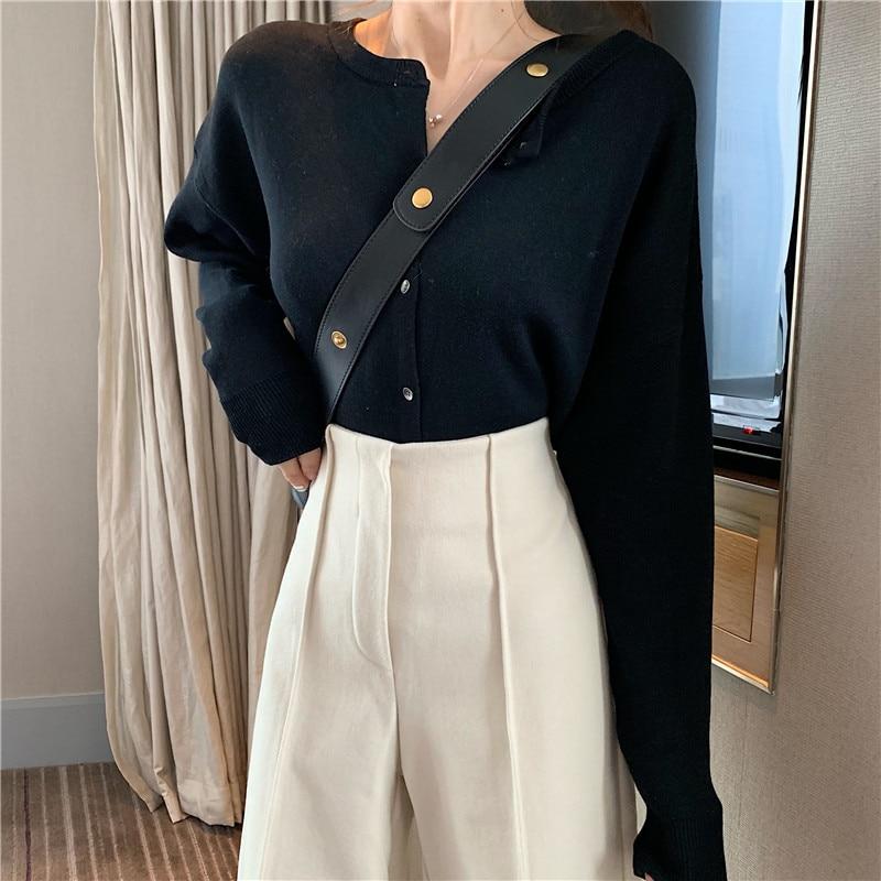 Women's Pants Elegant Style Plaid Pants for Women Autumn Casual Loose Elastic Waist Trousers Harajuku Female Ankle-Length ZT1954 5