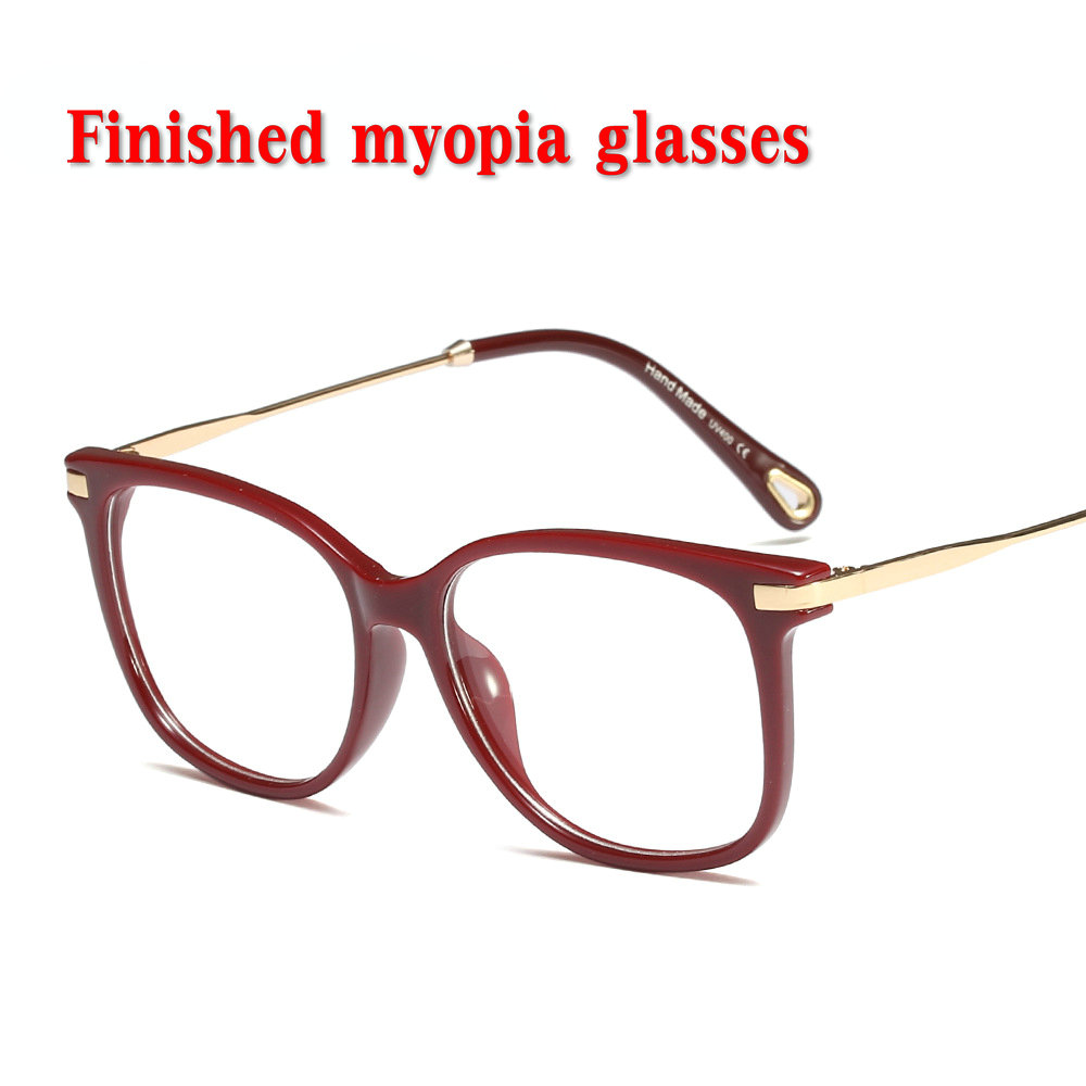 2019 Optische Transparente Gläser Frauen Mode Myopie Brillen Rahmen Metall Brillen Klar Linsen Dame Gläser 0 Zu-4,0 Nx