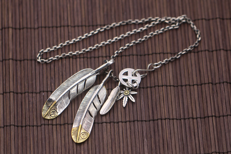 Pure Silver Feather pendant sets of chain hook angle chain is from Frisbee too c3003 three sets of desktop angle faucet