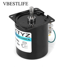 220v ac 40w low speed geared motor 70ktyz permanent magnet synchronous motor adjustable direction high torque low noise motor 68KTYZ AC Synchronous Motor 220V 28W 2.5 20 30 110r/min Permanent Magnet Synchronous Gear Motor CW/CCW