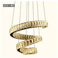 Modern LED Crystal Chandelier Lights Lamp Avize For Living Dining Room Cristal Lustre Chandeliers Hanging Fixtures