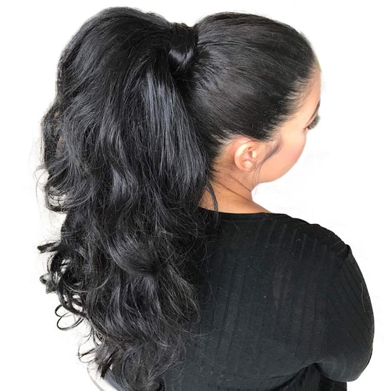 Wig Trupi prej 360 Lace me Parafjalë Trupi Wave Dantel Paruke me - Flokët e njeriut (të zeza) - Foto 1