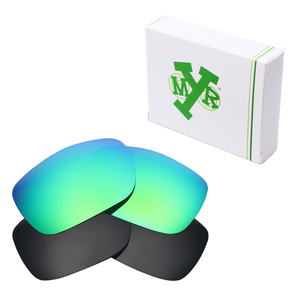 68d9349ce3 2 Pairs Mryok POLARIZED Replacement Lenses for Oakley Two Face Sunglasses  Stealth Black   Emerald Green-in Accessories from Apparel Accessories on ...