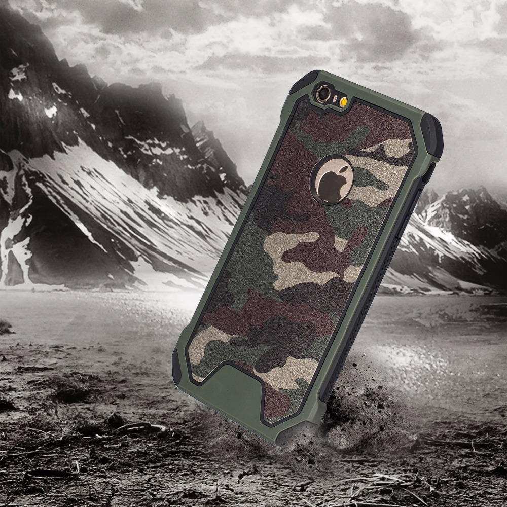 72ffb37732 3in1 Camo Camouflage Pattern For IPhone 5S 5SE 6 6S Plus Armor Anti-knock Cover  Case Cell Phone Back Cover Shell membrane