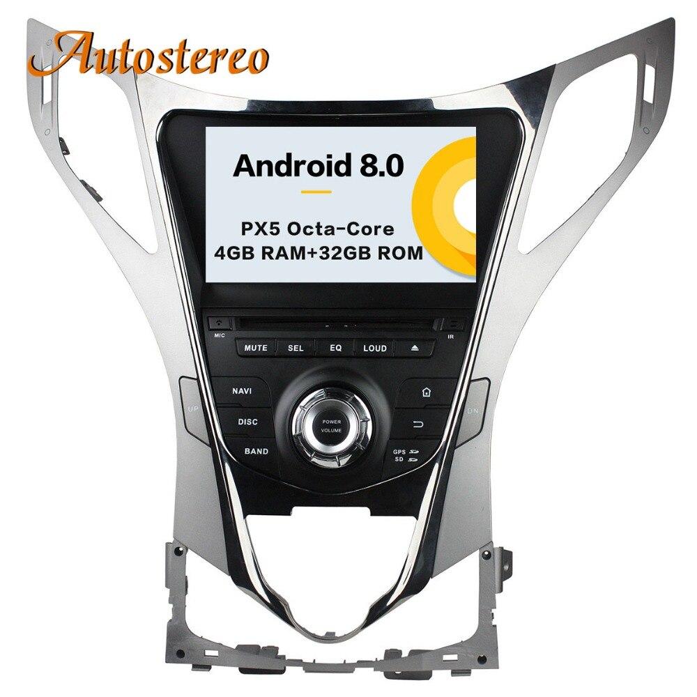 Autostereo Android 8 Auto Lettore DVD di navigazione GPS Per Hyundai AZERA Grandeur i55 2011 + headunit multimedia lettore registratore a nastro